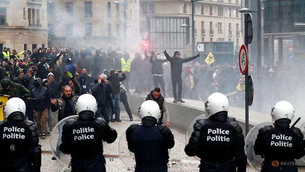 Χιλιάδες διαδηλωτές στις Βρυξέλλες κατά του Παγκόσμιου Συμφώνου του ΟΗΕ για τη Μετανάστευση