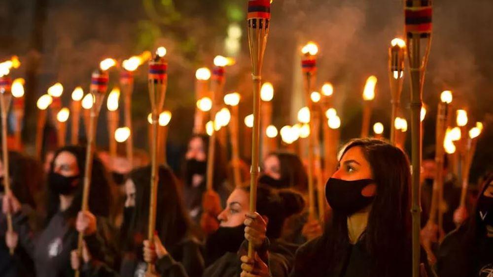 Αρμενία: Διαδήλωση στο Γερεβάν για την 106η επέτειο από τη γενοκτονία των Αρμενίων