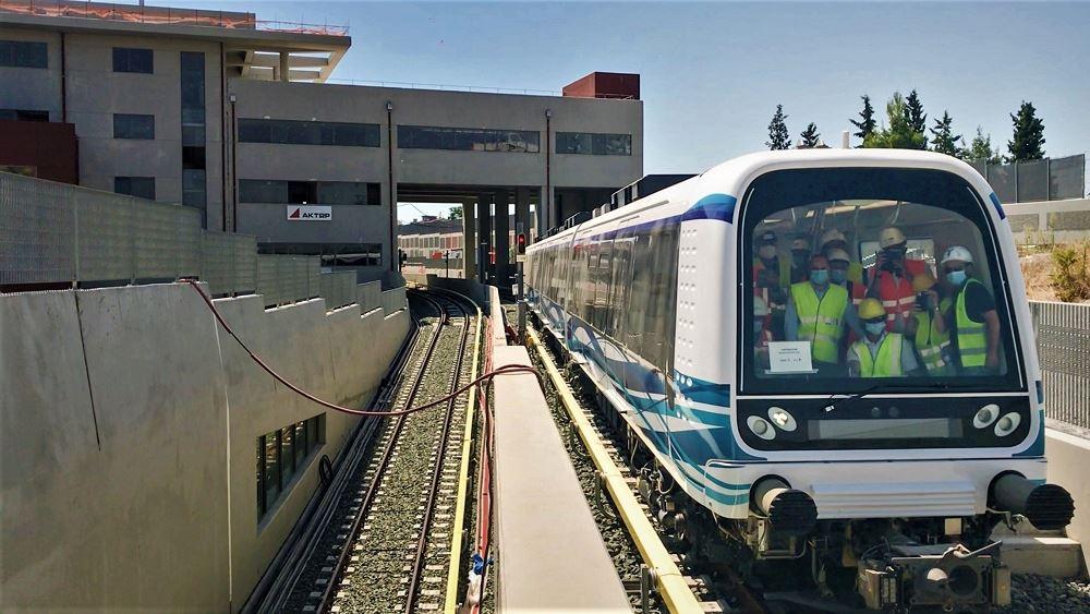 Στις πρώτες δοκιμές συρμού του Μετρό Θεσσαλονίκης παρέστη ο Κ. Καραμανλής