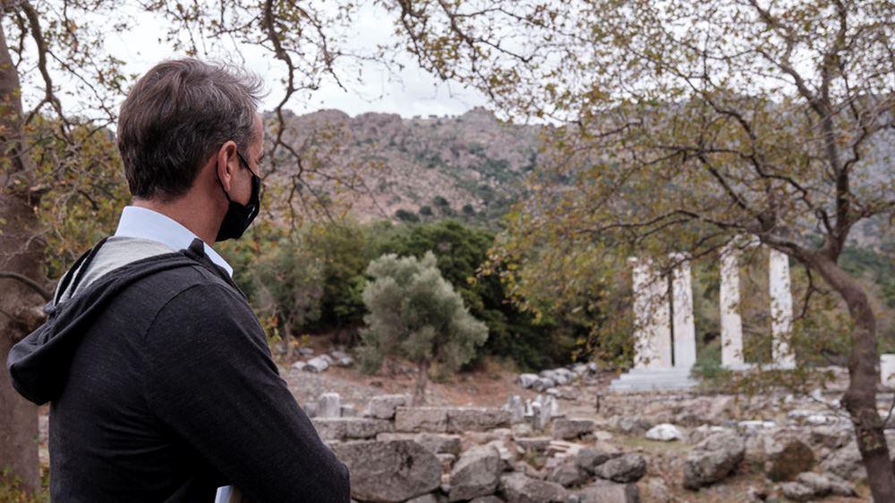 Σαμοθράκη: Επίσκεψη του Κ. Μητσοτάκη στο Κάστρο της Χώρας