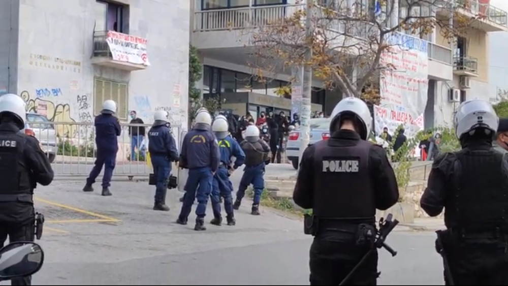 Θεσσαλονίκη: Συγκέντρωση στις φοιτητικές εστίες. Κινητοποίηση της αστυνομίας