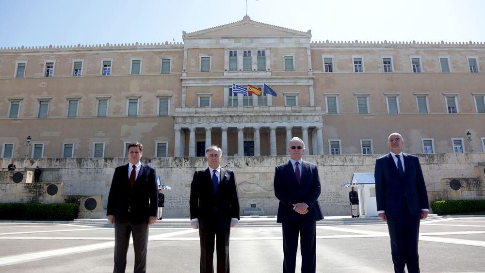 Βουλή: Ανάρτηση της ισπανικής σημαίας ως έκφραση αλληλεγγύης στον λαό της Ισπανίας