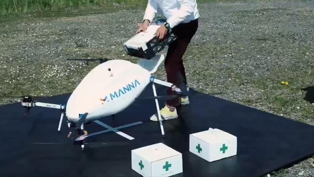 Η ιρλανδική Manna Aero ξεκίνησε παραδόσεις ιατρικού υλικού και τροφίμων μέσω drone