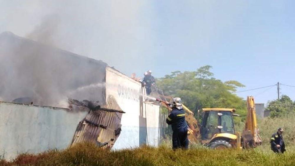 Ηράκλειο: Πυρκαγιά στην περιοχή Γάζι του Δήμου Μαλεβιζίου