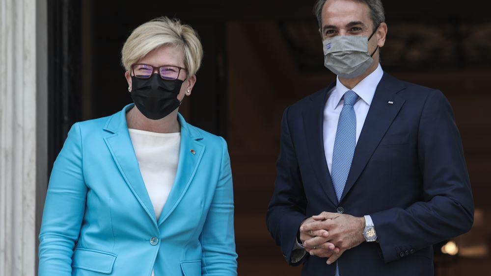 LIVE: Οι κοινές δηλώσεις του πρωθυπουργού και της πρωθυπουργού της Λιθουανίας