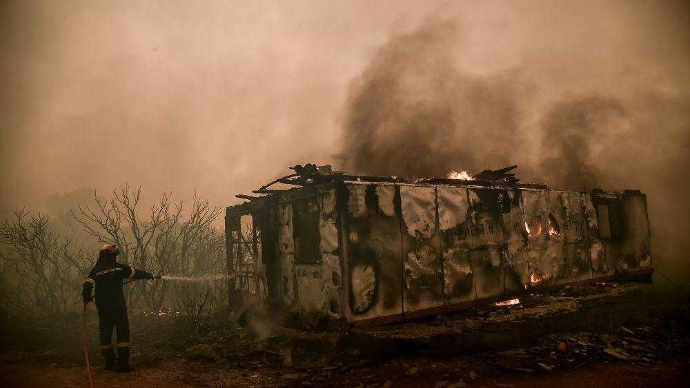 Βίλια - φωτιά: Αδιάκοπη μάχη με τις αναζωπυρώσεις κοντα σε Οινόη και Πανόραμα