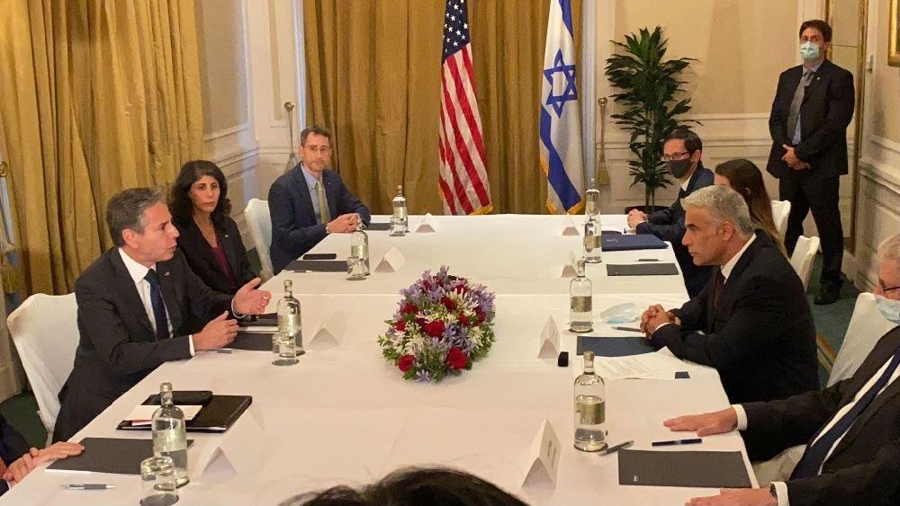 Συνάντηση Μπλίνκεν με τον Ισραηλινό ομόλογό του Γιάιρ Λάπιντ
