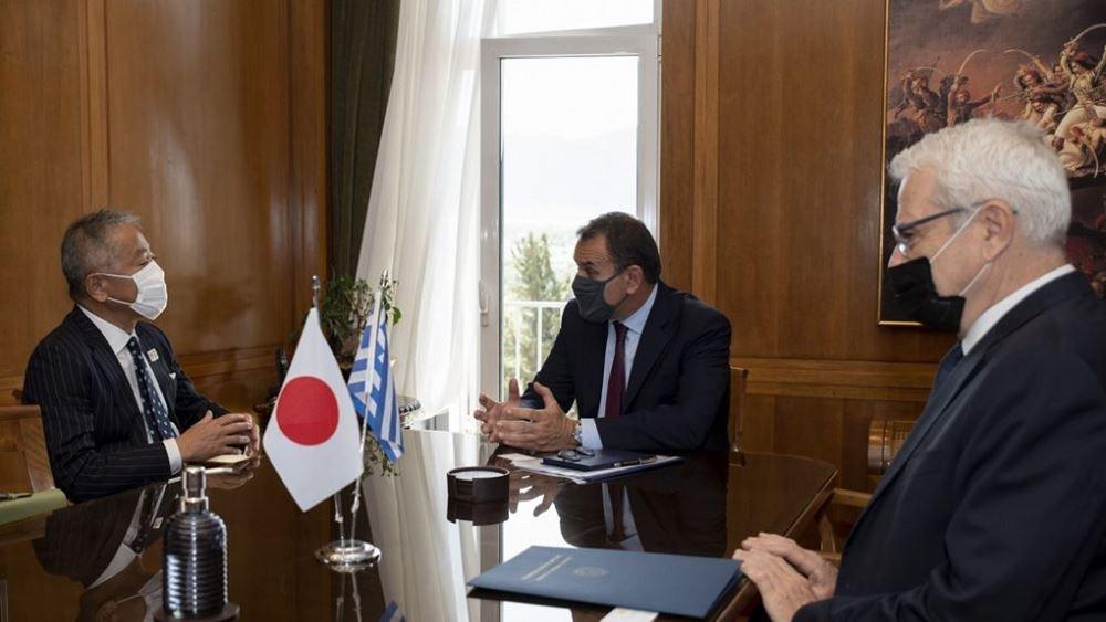 Συνάντηση ΥΕΘΑ Ν. Παναγιωτόπουλου με τον Πρέσβη της Ιαπωνίας Γιασουνόρι Νακαγιάμα