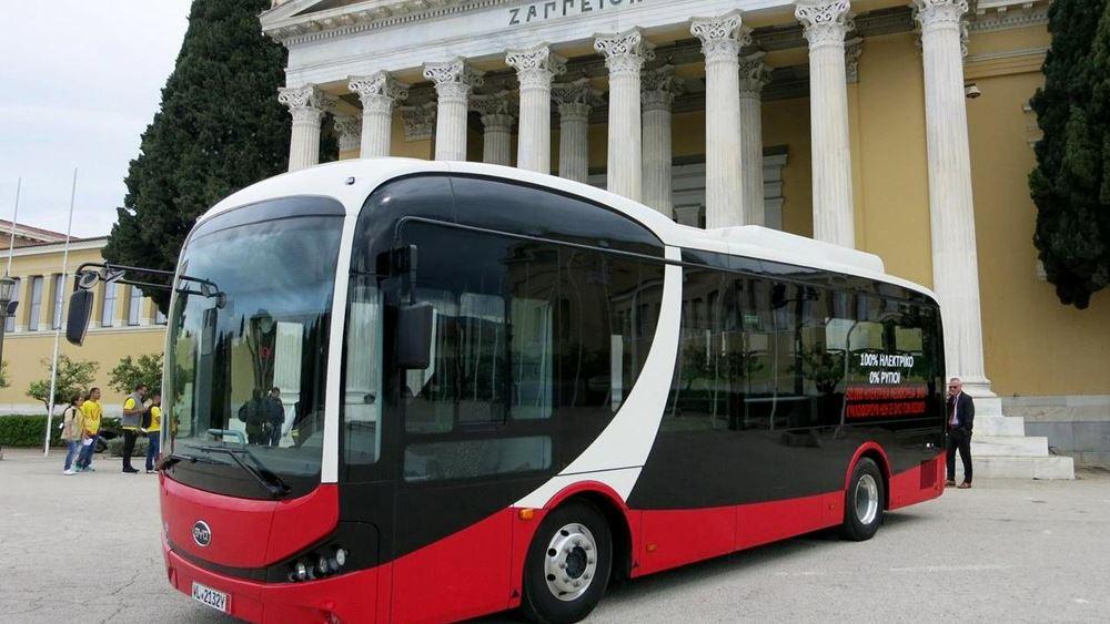 Δοκιμαστικά δρομολόγια στην Αθήνα για το ηλεκτρικό λεωφορείο της BYD