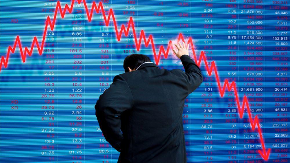 """""""Βουτιά"""" 600 μονάδων για τον Dow εν μέσω χρηματιστηριακού παραληρήματος"""