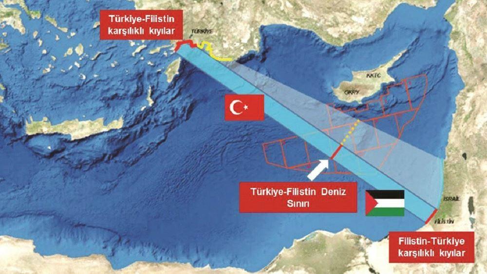Σε ισχύ η συμφωνία Τουρκίας-Παλαιστίνης: Ανοίγει ο δρόμος για θαλάσσια σύνορα, λέει η Yeni Şafak