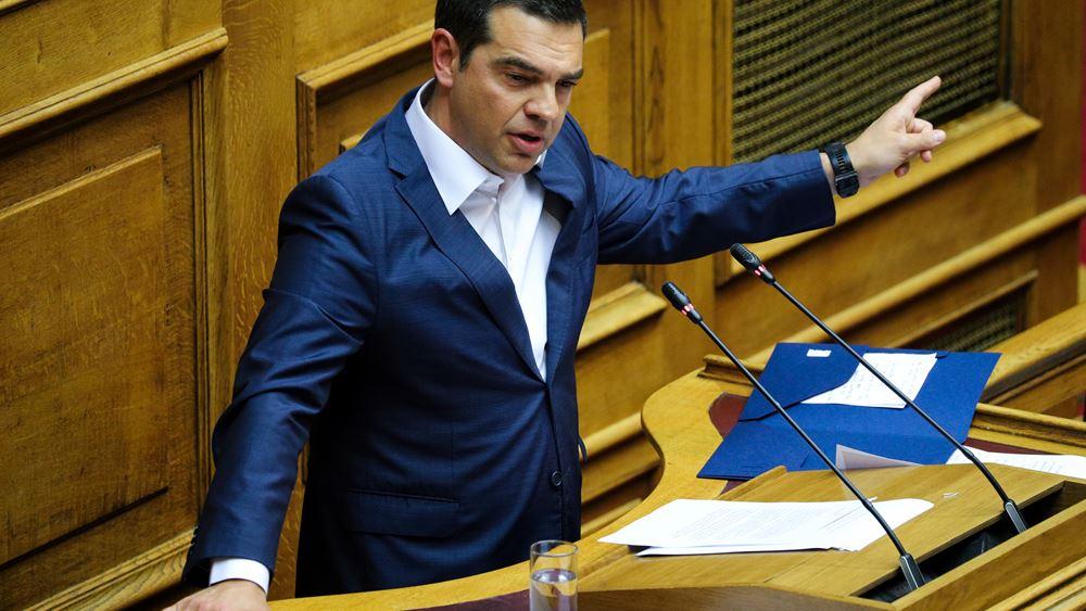 Τσίπρας: Πρόταση μομφής εναντίον του Χρήστου Σταϊκούρα για τον πτωχευτικό