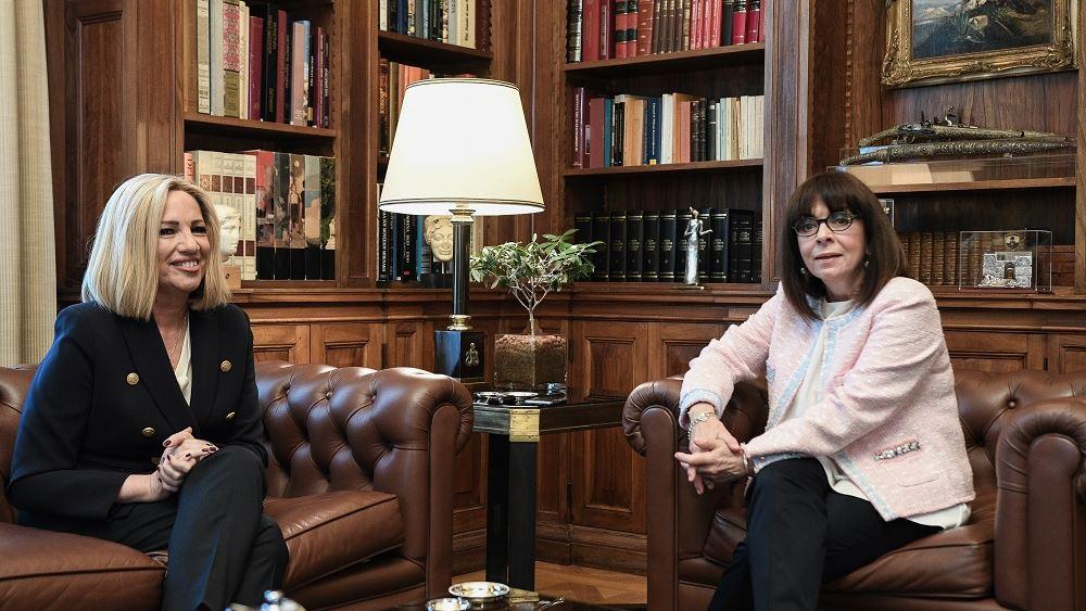 Συνάντηση Σακελλαροπούλου - Γεννηματά με φόντο την οικονομία και τα εθνικά θέματα