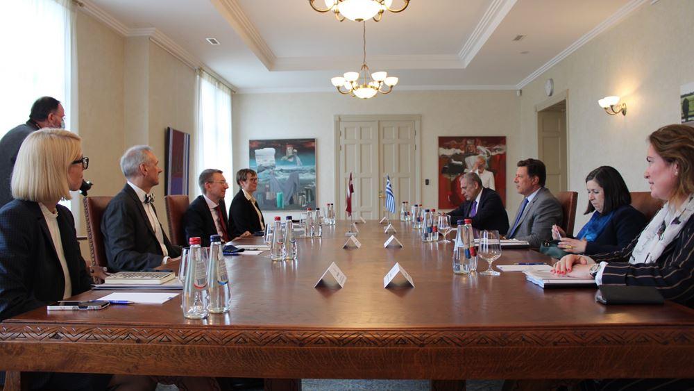 Μ. Βαρβιτσιώτης: Ισχυρή βούληση της Ελλάδας για εντατικοποίηση της συνεργασίας με Λετονία