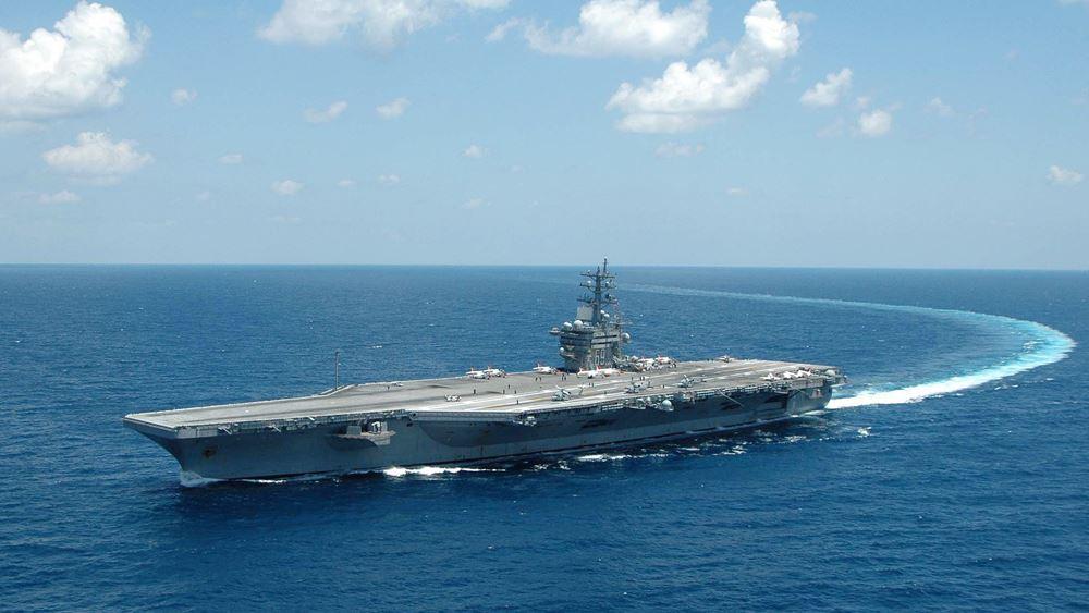 """Τουρκικά ΜΜΕ: Κοινή άσκηση του πολεμικού ναυτικού της Τουρκίας με τη δύναμη του αεροπλανοφόρου """"Αϊζενχάουερ"""""""