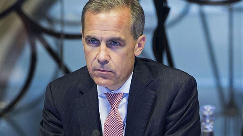 """Κάρνεϊ (BoE): Υπάρχει """"μείωση"""" της αβεβαιότητας, αλλά """"δεν είναι εγγυημένη"""" η ανάκαμψη της οικονομίας"""