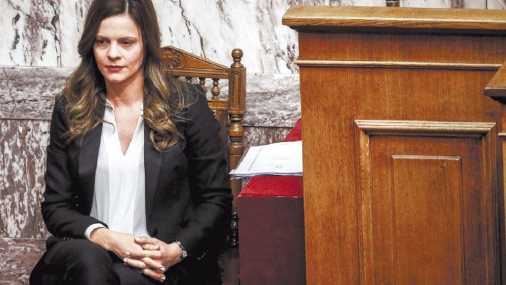 """Έλλειψη """"συντονισμού"""" καταλογίζει στην κυβέρνηση η Ε. Αχτσιόγλου"""