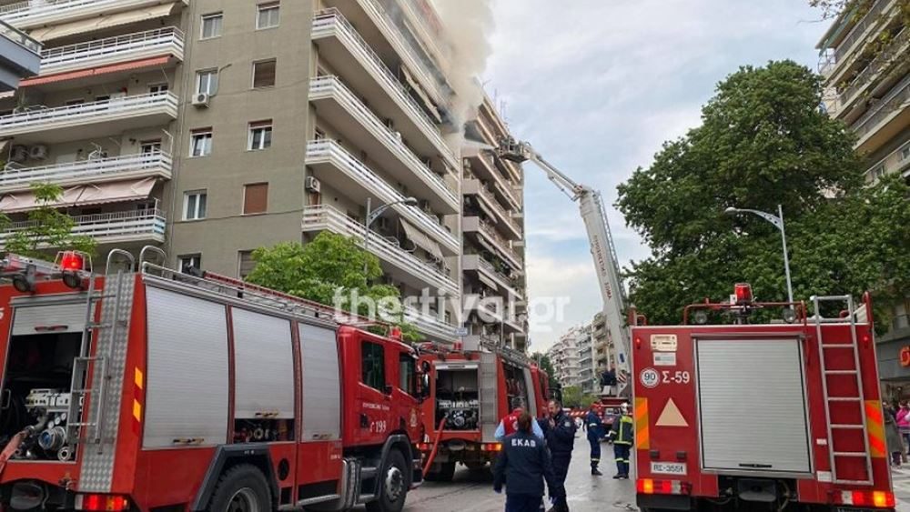 Θεσσαλονίκη: Ένας 86χρονος νεκρός από πυρκαγιά σε διαμέρισμα