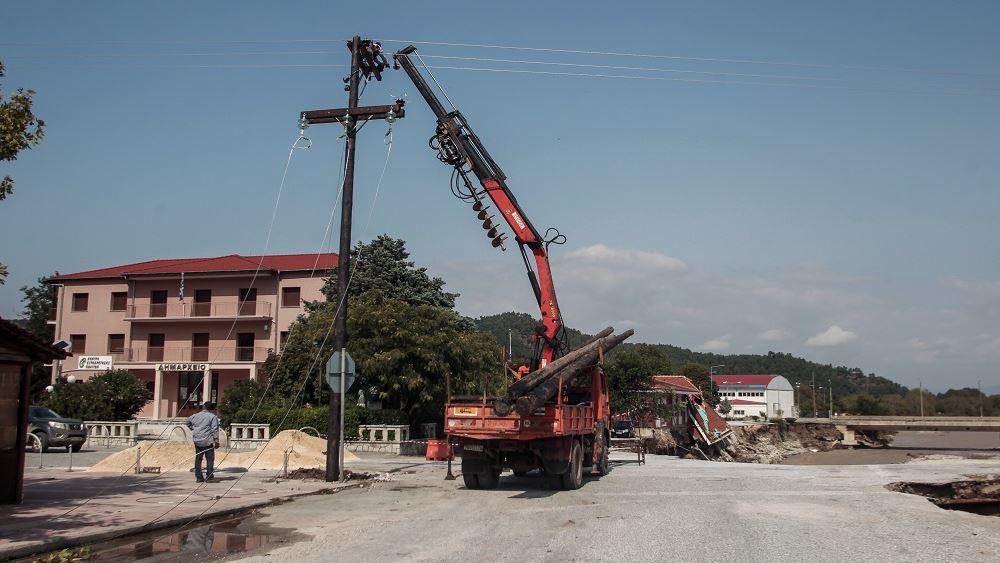"""ΔΕΔΔΗΕ: Εργαζόμαστε επί 24ώρου βάσεως για την ταχύτερη αποκατάσταση των ζημιών του """"Ιανού"""""""