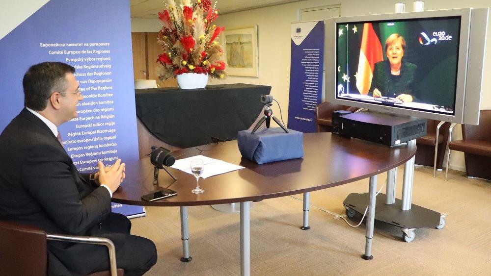 Διαδικτυακή συνάντηση Μέρκελ με τον πρόεδρο της Επιτροπής των Περιφερειών