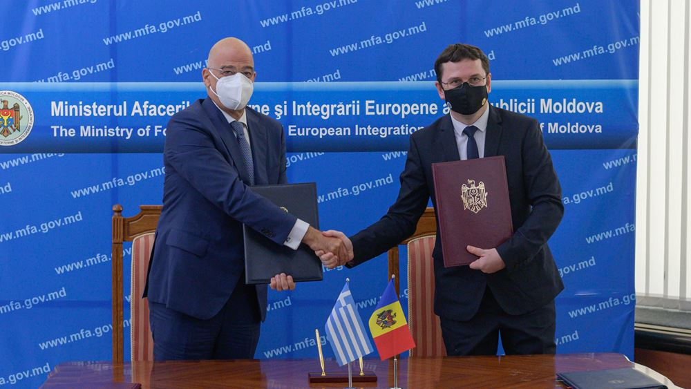 H ενίσχυση της διμερούς συνεργασίας στο επίκεντρο της συνάντησης του Ν. Δένδια με την Πρόεδρο της Μολδαβίας