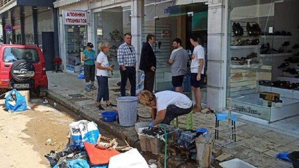 ΕΣΕΕ: Πρωτοφανής η καταστροφή στο εμπορικό κέντρο της Καρδίτσας