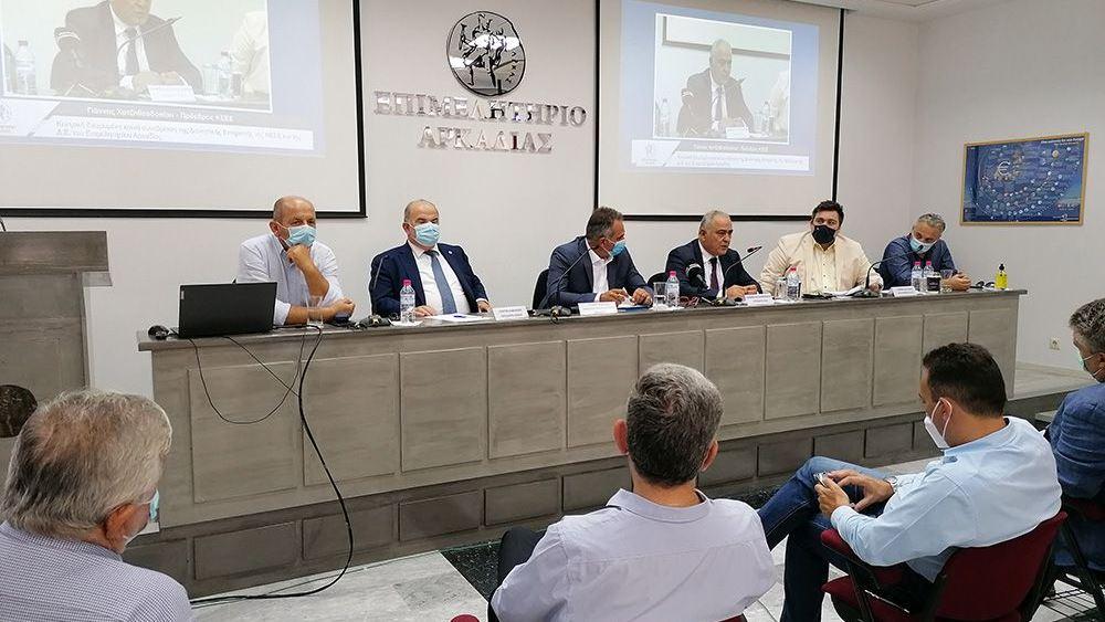 Περιοδεία Γ. Χατζηθεοδοσίου στους πυρόπληκτους νομούς της Πελοποννήσου