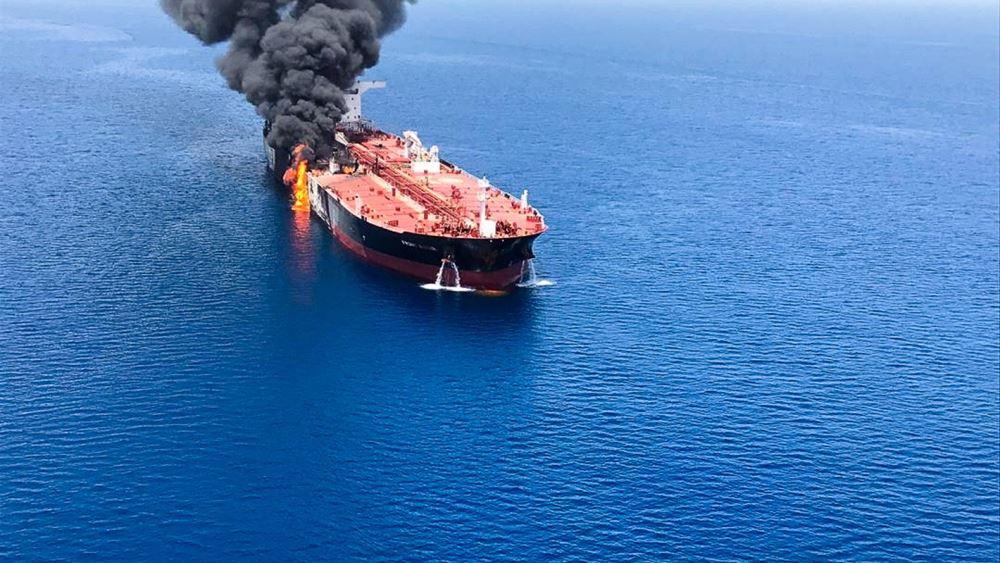 Στο Ντουμπάι το πλήρωμα του δεξαμενόπλοιου Front Altair που χτυπήθηκε στον Κόλπο του Ομάν