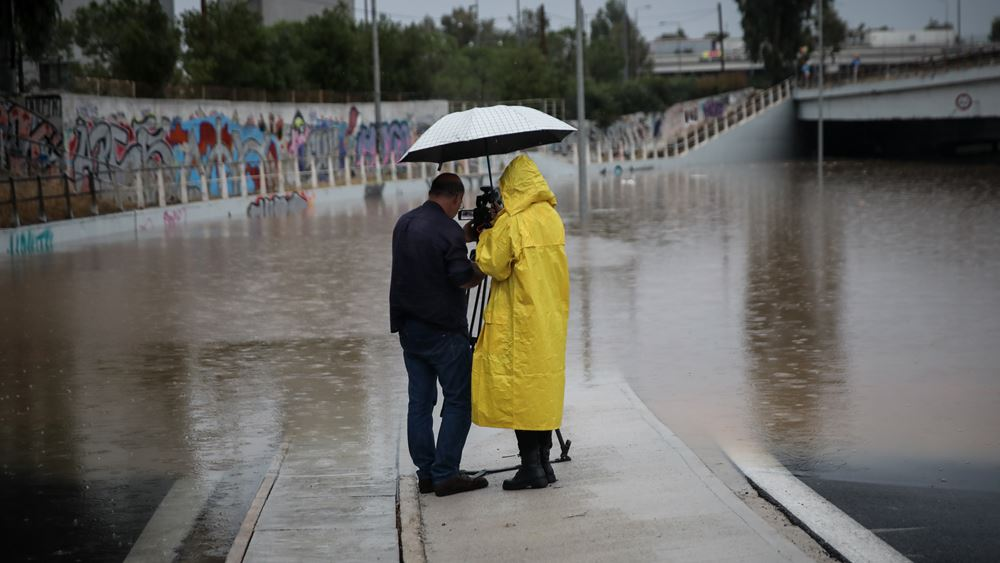 """Κακοκαιρία """"Μπάλλος"""": Σχεδόν 150 τόνοι νερού ανά στρέμμα έπεσαν στην Αθήνα"""