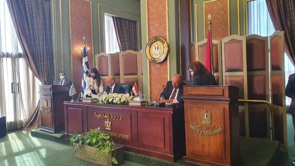 Ελλάδα - Αίγυπτος υπέγραψαν τη συμφωνία για ΑΟΖ