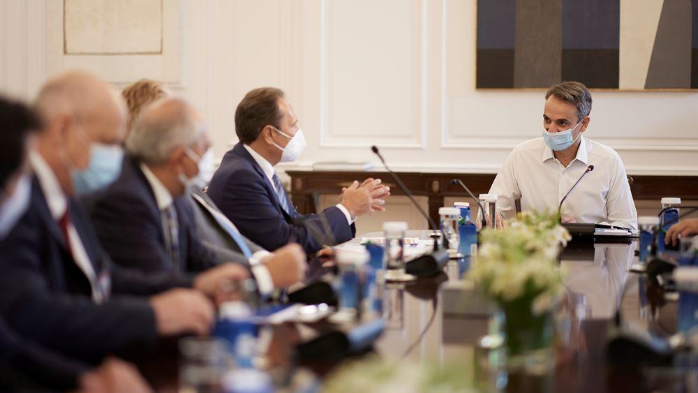 Τα επενδυτικά σχέδια στον τομέα του φαρμάκου στη συνάντηση Μητσοτάκη με εκπροσώπους της Πανελλήνιας Ένωσης Φαρμακοβιομηχανίας