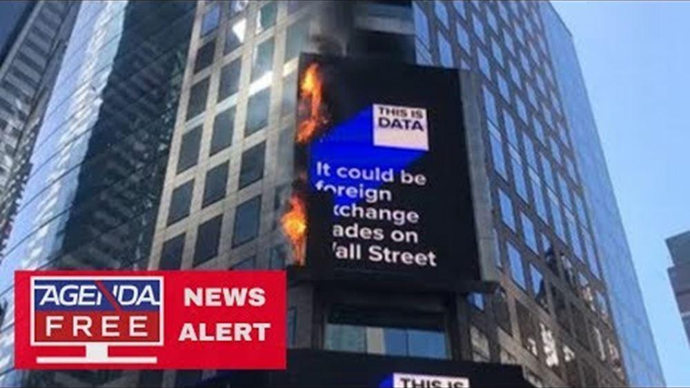 ΗΠΑ: Πυρκαγιά σε ψηφιακή διαφημιστική γιγαντοοθόνη στην Τάιμς Σκουέαρ