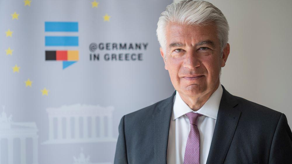 """Γερμανός πρέσβης: """"Τώρα είναι η μεγάλη ευκαιρία για την ανάπτυξη επενδύσεων στην Ελλάδα"""""""