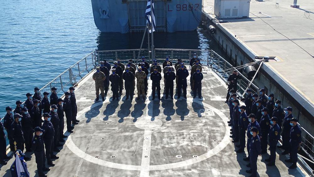 Τη διοίκηση, εν πλω, της επιχείρησης IRINI ανέλαβε η Ιταλία από την Ελλάδα