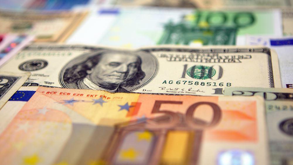 Το ευρώ ενισχύεται οριακά 0,02%, στα 1,2088 δολάρια