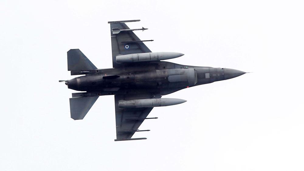 Καστανιές: Διέλευση μαχητικών F-16 και έπαρση της σημαίας στο Φυλάκιο 1