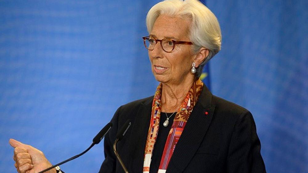 Η Λαγκάρντ εκθειάζει Σόιμπλε στην πρώτη της ομιλία ως επικεφαλής της ΕΚΤ