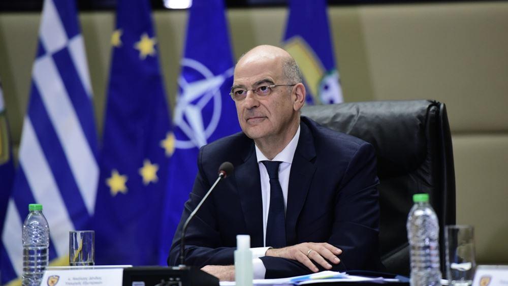 Δένδιας: Η Ελλάδα θα πράξει ό,τι είναι δυνατόν για την τήρηση της σταθερότητας στην Αν. Μεσόγειο