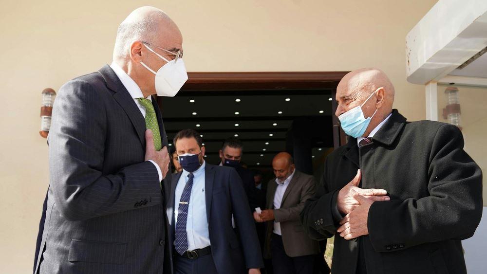 Συνάντηση Δένδια με τον πρόεδρο της Βουλής των Αντιπροσώπων της Λιβύης