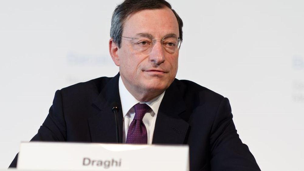 Ντράγκι (ΕΚΤ): Θα χαλαρώσει ξανά την πολιτική αν ο πληθωρισμός δεν αυξηθεί