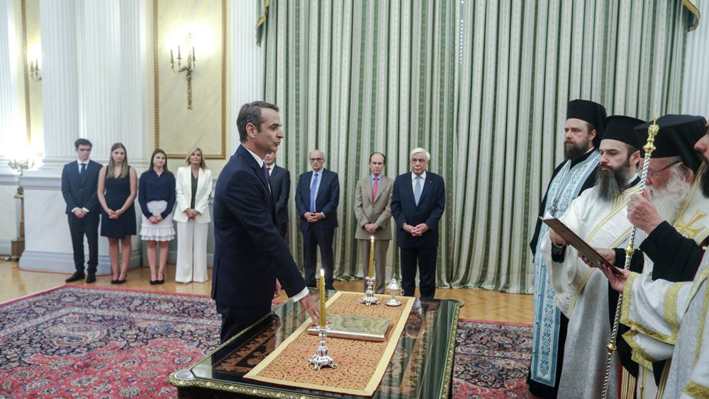 Mitsotakis sworn in as new prime minister of Greece