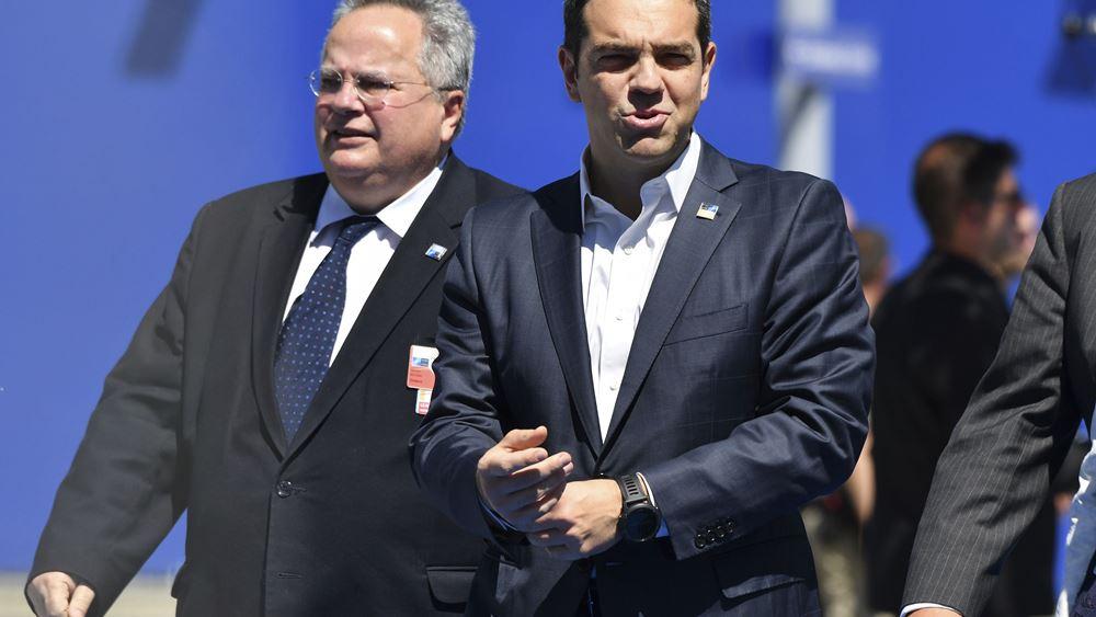 Σύνοδος ΝΑΤΟ: Συζητήσεις Τσίπρα με Μέρκελ - Μακρόν για το χρέος
