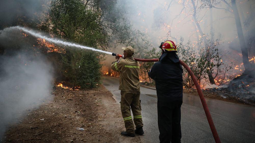 Σε κρίσιμη κατάσταση νοσηλεύονται δύο εθελοντές δασοπυροσβέστες