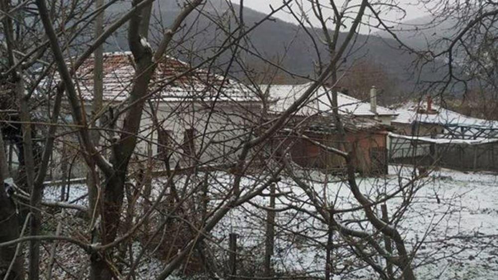 Πυκνή χιονόπτωση σε όλη την ανατολική Μακεδονία