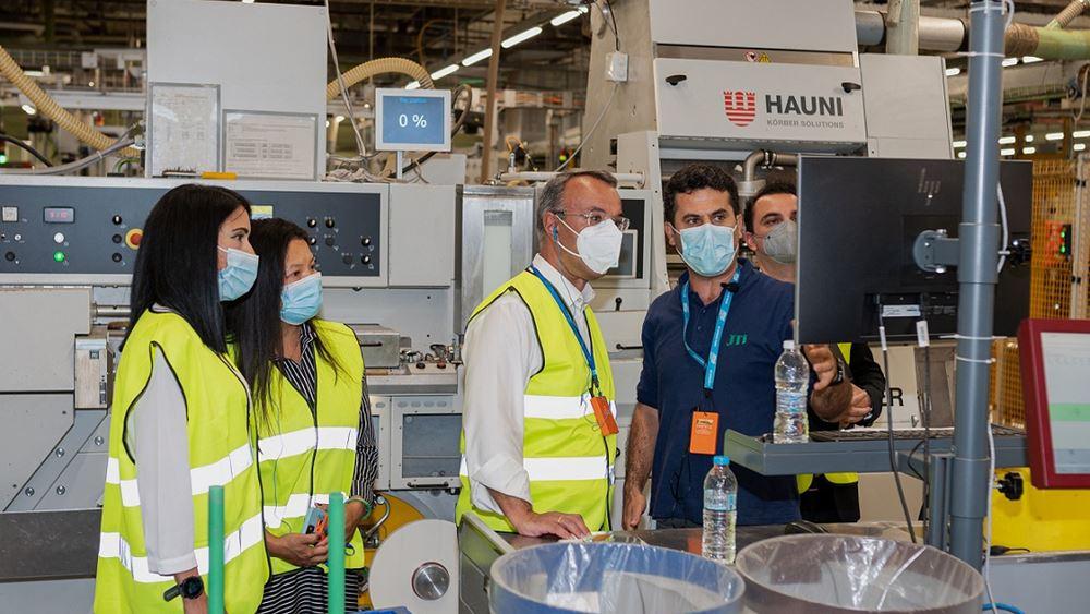 Επίσκεψη Χρ. Σταϊκούρα στις εγκαταστάσεις του εργοστασίου της JTI στην Ξάνθη