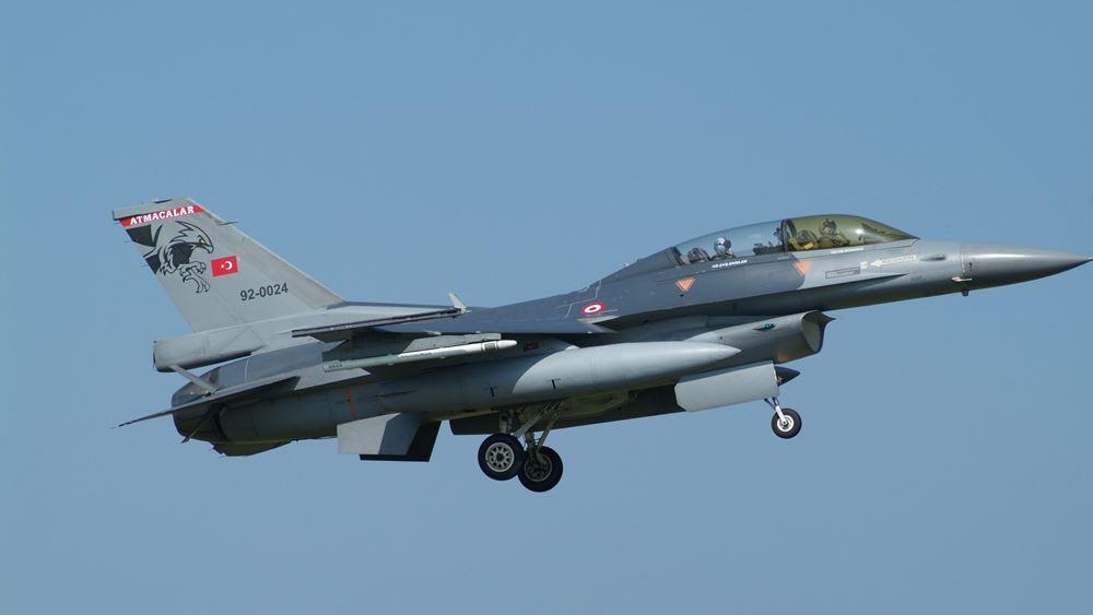 Ζεύγη τουρκικών F-16 πέταξαν πάνω από τις Οινούσες, την Παναγιά και ΒΑ της Χίου