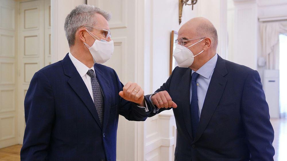 Συνάντηση Δένδια - Πάιατ: Οι ΗΠΑ υποστηρίζουν τον σταθεροποιητικό ρόλο της Ελλάδας στην περιοχή