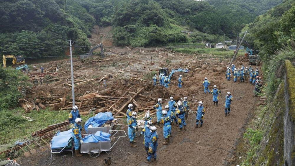 Ιαπωνία: Στους 34 ανήλθε ο αριθμός των νεκρών από τις καταρρακτώδεις βροχές