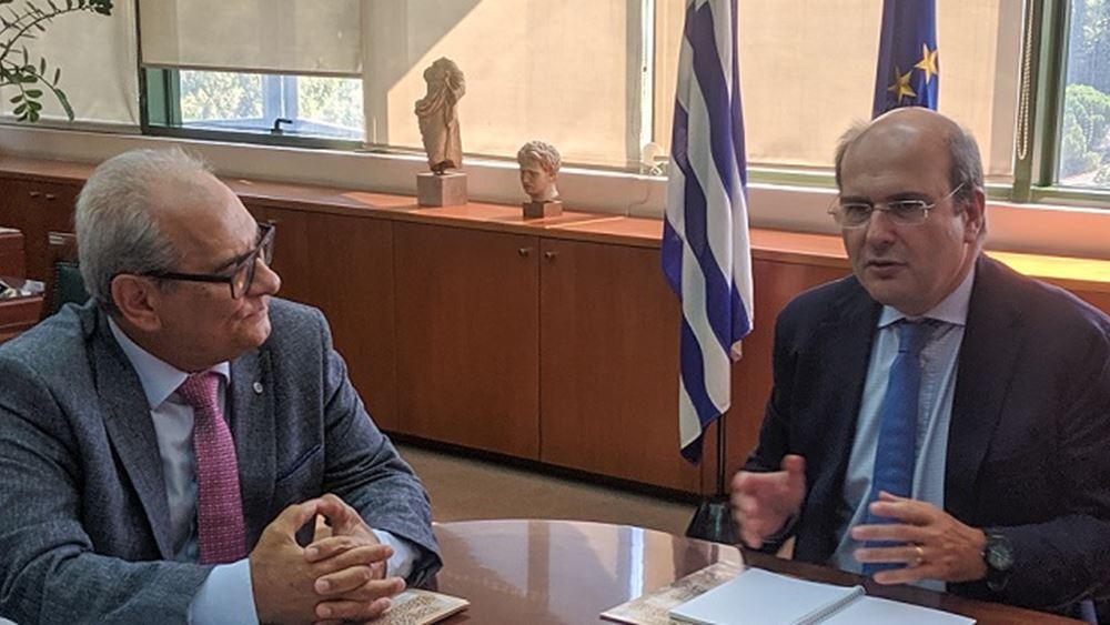 Συνάντηση Χατζηδάκη με το προεδρείο της ΠΟΜΙΔΑ για θέματα του Κτηματολογίου
