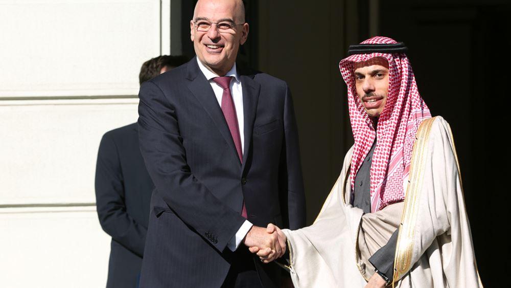 Ν. Δένδιας: Κοινή θέση με Σ. Αραβία ότι τα μνημόνια Ερντογάν - Σάρατζ είναι άκυρα και επικίνδυνα